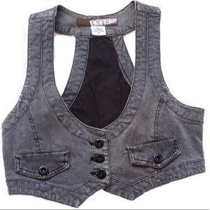 Mineral/Acid Wash Gray Vest